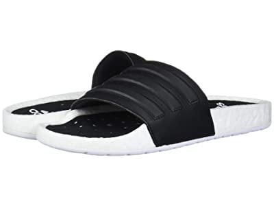 adidas Adilette Boost (Footwear White/Core Black/Footwear White) Athletic Shoes