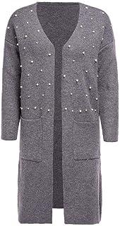 Suéter Jerséis para Mujer Invierno Mujer Baggy Cardigan Abrigo Jersey de Punto Extragrande de Punto Grueso Largo