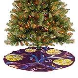 ThinkingPower Falda de árbol de Navidad de lujo, vegana, colores vibrantes, decoración para interiores y exteriores, para fiestas de Navidad, diámetro de 76,2 cm