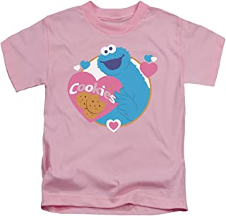 Sesame Street Love Cookies Unisex Youth Juvenile T-Shirt for Girls and Boys