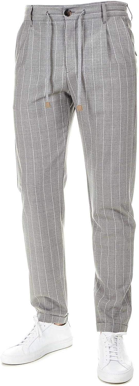 ELEVENTY Men's 979PA0303PAN2701213 Grey Wool Pants
