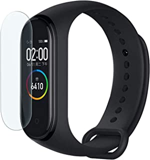 TASLAR Full Coverage Anti Bubble Front Screen Scratch Guard Protector Compatible with Xiaomi Mi Band 4 2019 (Pack of 2)