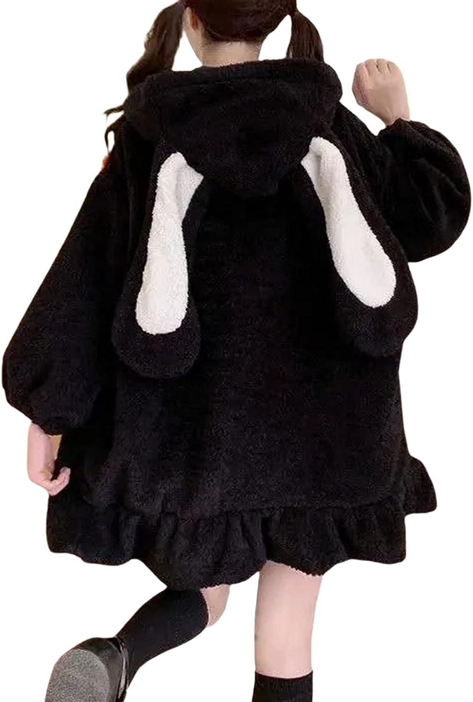 Cute Kawaii Bunny Hoodie Jacket Coats Fashion for Fuzzy Ranking TOP16 Fl Women Factory outlet