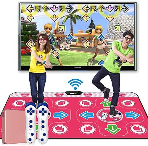 KTYX Alfombra Baile de Doble Usuario para Niños Y Adultos - Almohadilla de Baile Electrónica TV Antideslizante + 2 Gamepad Somatosensoriales - Sense Game para PC HD TV Computadora de Doble Uso