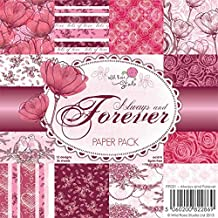 Wild Rose Studio Paper Pack, 6 by 6-Inch, Always and Forever