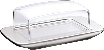 Preisvergleich für WMF loft Brunch Butterdose, mit Kunststoffhaube, Cromargan Edelstahl, mattiert, spülmaschinengeeignet, 11,5 x 16,8 cm