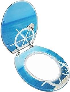 Toiletbril Rudder Toiletdeksel Met Verstelbare Scharnier Quick Release Toilet Seat Cover Verdikte Badkamer Deksel Voor V/...