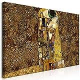 murando Cuadro Mega XXXL Beso 200x100 cm Cuadro en Lienzo en Tamano XXL Estampado Grande Gigante Imagen para Montar por uno Mismo Decoración De Pared Impresión DIY Gustav Klimt l-A-0001-ak-e