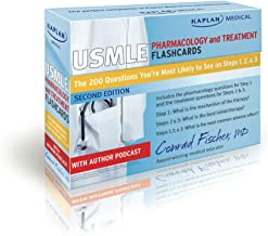 Kaplan Medical USMLE Pharmacology and Treatment Flashcards: The 200 Questions You're Most Likely to See on Steps 1, 2 & 3 (cards)