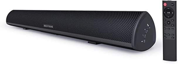 Sound Bar, Bestisan 80W Home Theater Soundbar System with IR Remote Function, Wired and..