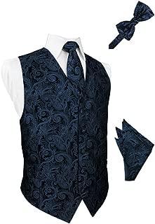 peacock blue tuxedo vest