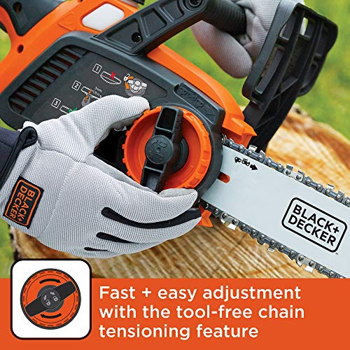 BLACK + DECKER 20V Max Lithium Ion Chainsaw (LCS1020) with Interchangeable Battery with Other 20V Lithium Ion Products