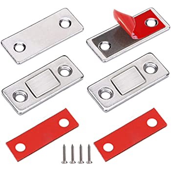 Cabinet Magnets Jiayi Extra Strong Door Magnets Heavy Duty Door Closure Magnets Latch 90lbs Magnets For Cabinet Doors Stainless Steel Magnetic Door Catch Drawer For Cupboard Closet Door Latch Amazon Com