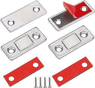 Iman Puerta Adhesivo Jiayi 2 Pcs Cierre Magnetico Para Puerta Ultra-fino Pestillo Puerta Corredera Iman Armario Magnético ...