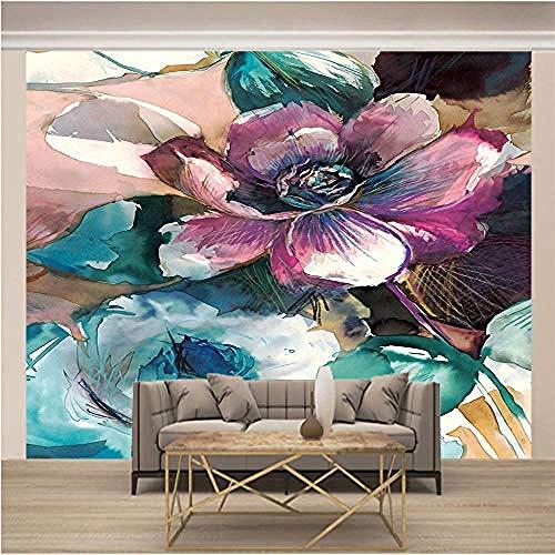 3D Tapete Pinke Blumen 350x250cm Non-Woven Wall Wallpaper Living Room Bedroom Office Hallway Decoration xxl Modern Wall Decoration