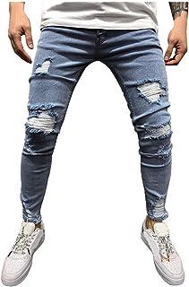 BARBONS Vaquero de Hombre Jeans el/ástico Slim-fit