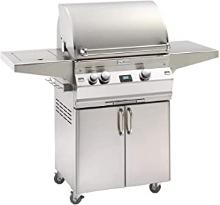 Fire Magic Aurora Series 24-Inch Grill on Cart with Single Side Burner (A430s-5E1P-62), Digital Thermometer, Propane