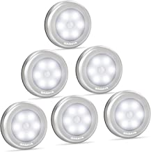LED Motion Sensor Light Battery Operated, Closet Lights, Stick on Light for Closet, Hallway, Stair, Step, Cabinet, Kitchen, Garage, Bathroom, Wireless Wall Lamp for Home Indoor (6-Pack White Light)