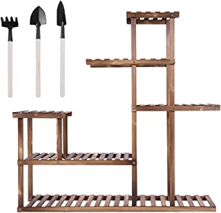 Zerone Plant Stand,Multi-tiers Wooden Plant Stand Balcony Garden Flower Plant Stand Display Shelf