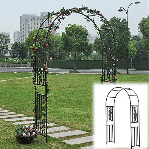 SYLJ Arcos para Rosas Negro para Exteriores, Arco para Enredaderas para Escalada Plantas, Soporte para Decoración de Jardín de Boda de Metal de 150x249cm,180x265cm, Fácil de Montar
