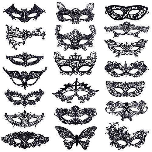 Máscara Encaje Negro Máscaras Mascarada Veneciano