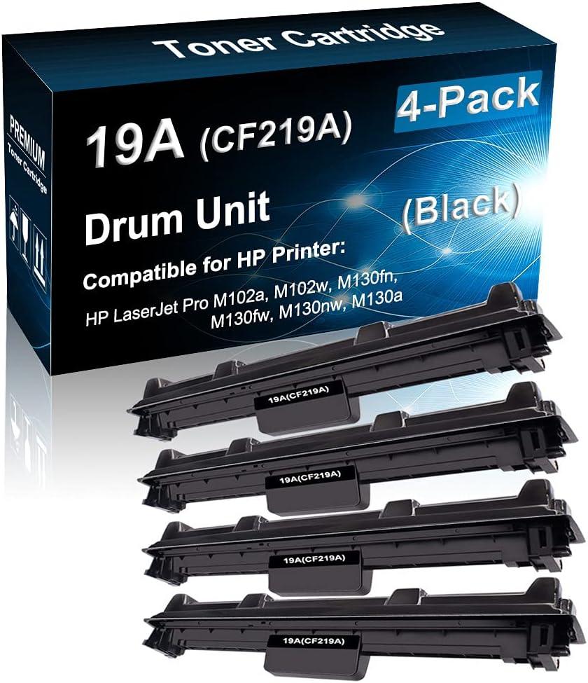 4-Pack Compatible Drum Unit (Black) Replacement for HP 19A CF219A Imaging Drum use for HP Pro M203 M227 M206dn M230fdw M230sdn Printer