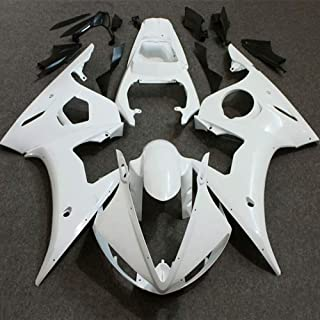 PROMOTOR Injection Fairing Kit ABS Plastic Motorcycle Bodywork for 2005 Yamaha YZFR6 (Unpainted)