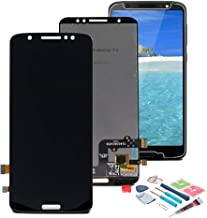 XR MARKET Motorola Moto G6 Screen Replacement LCD Display Touch Screen Digitizer Assembly Part, Compatible with XT1925 XT1925-5 XT1925-6(NOT for Moto G6 Play), with Tools, Screen Protector (Black)