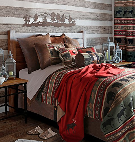 Review Of Rustic Western Southwestern Outdoors Cabin Inspired Comforter Set 5PC Backwoods (Queen) R4...