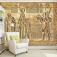 カスタム任意のサイズの壁紙ヨーロッパスタイルヴィンテージHDエジプト救済神話の数字防水キャンバス3D壁画, 150cm×105cm