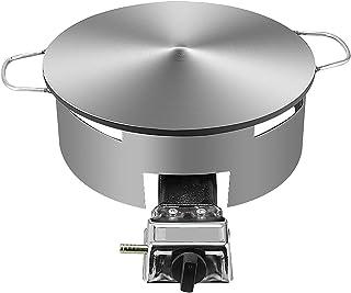 Kommersiell gas crepe maker med ladle och spatel, nonstick och bärbar pan, kompakt, lätt ren med justerbar temperatur