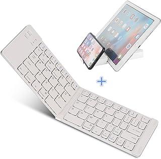 Teclado Bluetooth Plegable, IKOS Ultra Slim Mini Teclado Plegable BT para iPhone X 8 7 6S 6 Plus, iPad Mini/Pro/Air, Smartphones/Tabletas Android de Samsung y Dispositivo con Sistema Windows