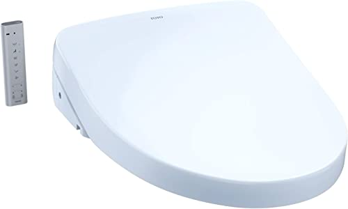 wholesale TOTO SW3056#01 S550E Electronic Bidet Toilet Seat with Cleansing Warm, Nightlight, Auto Open and wholesale Close Lid, Instantaneous Water Heating, and EWATER+, high quality Elongated Contemporary, Cotton White outlet sale