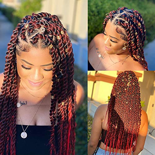 Easy Braids Hair Bundles Pre-stretched Braiding Hair Hot Water Setting Easy Braid Itch Free Synthetic Fiber Crochet Twist Braids Yaki texture Straight Braiding Hair Extensions (8packs/1b-900)