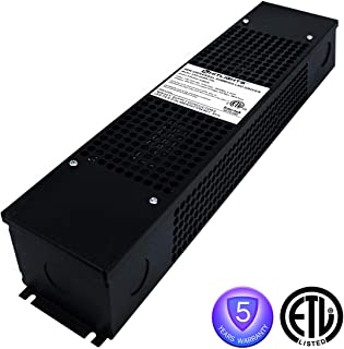 HitLights 96W LED Dimmable Driver, 100-130VAC to Constant 24V DC Lighting Transformer Compatible with Forward phase,Magnetic low voltage,Triac Dimmer (with Junction Box & Knockouts)
