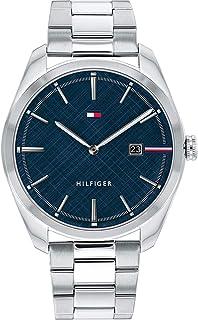 ساعة كوارتز بعرض انالوج وسوار من الستانلس ستيل للرجال من تومي هيلفجر- موديل 1710426