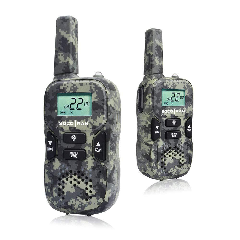 SOCOTRAN Walkie Talkies Twin Pack PMR446 Radio de 2 vías sin licencia 8 canales 0.5W
