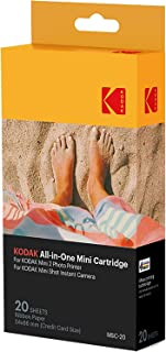 Kodak Mini 2 Photo Printer Cartridge, MC All-in-One Paper and Color Ink, for Mini 2 and Mini Shot, MC-20, 192143000181