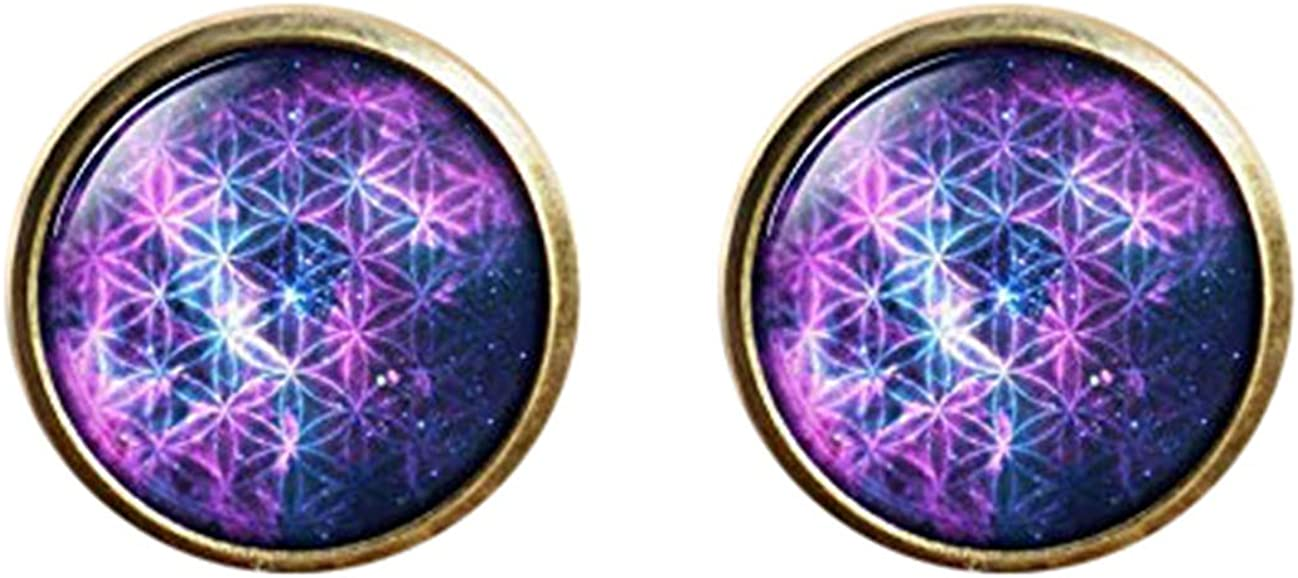 Death Devil Art Picture Cuff Links,Gift of Love,Flower of Life Cuff Links