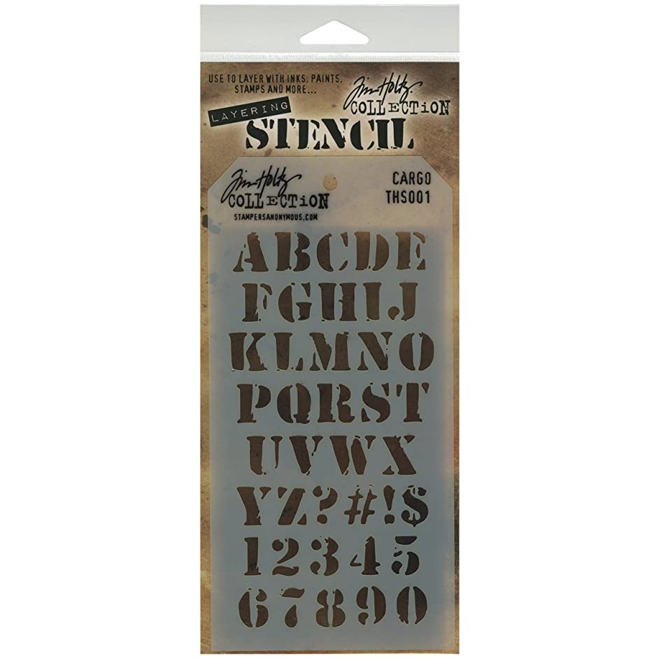 Stampers Anonymous Tim Holtz Layered Stencil, 4.125 by 8.5-Inch, Cargo