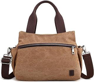 JOSEKO Damen Hobo Tasche, JOSEKO Frau Segeltuch Tote Handtaschen Jahrgang Schulter Crossbody Taschen Braun