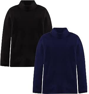 Popular Boys and Girls Basic Cotton Long Sleeve Turtleneck