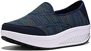 Unparalleled beauty Women's Walking Tennis Shoes Lightweight Athletic Casual Gym Slip on Wedge Sneakers