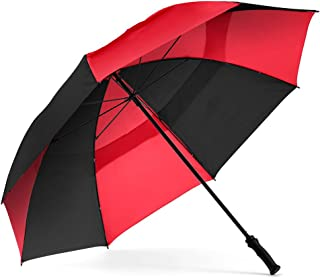 ShedRain Windjammer Vented Golf Umbrella with Rubber Grip: Black/Red