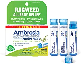 Boiron Ambrosia 30c Homeopathic Medicine for Ragweed Allergies and Hay Fever Relief, 3 Tubes, 3 Count