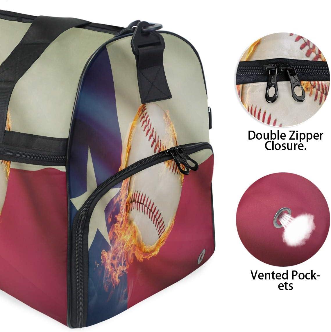 Large Duffle Bag Sports Baseball Maine Gym Sport Travel Weekender Bag Handbag for Women Men