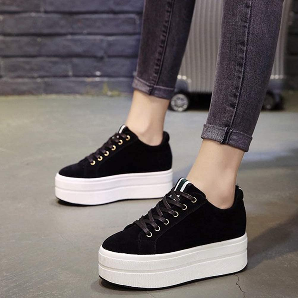Mujeres Plataforma Entrenadores Zapatos Grueso Fondo Alta Talones Primavera Oto/ño British Estilo Casual Sports Zapatillas Desguace