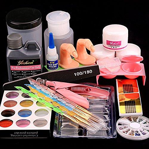 Acrylic Nail Kit Nail Full Set kit Acrylic Liquid Powder Professional Acrylic Nail Brush Kit for...