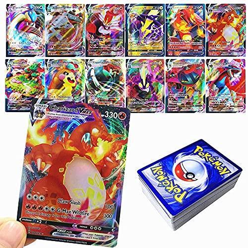 Regel Pokemon-kort GX V VMAX Collectible Cards Pokémon Game Interactive Battle Cards Present Barn-60PCS (18 VMAX-MAP + 42 V-CARD)