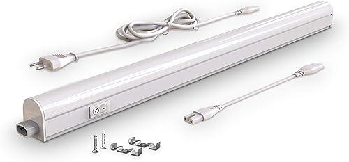 B.K.Licht - Regleta LED bajo armarios y cabinetes, de luz blanca neutra, iluminación bajo mueble con interruptor de l...